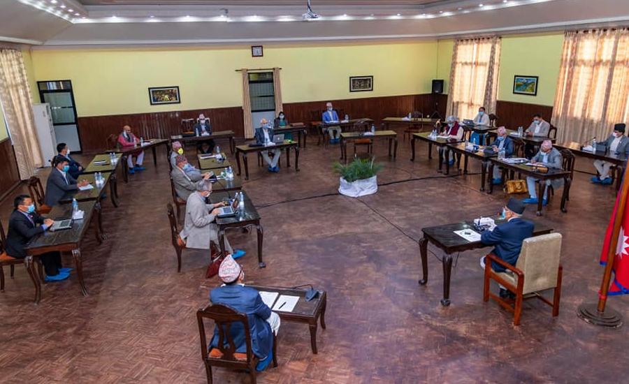 मन्त्रीपरिषद्को बैठक सम्पन्न कोभिड–१९ उच्चस्तरीय समन्वय समितिलाई लकडाउन बारे कार्ययोजना ल्याउन निर्देशन