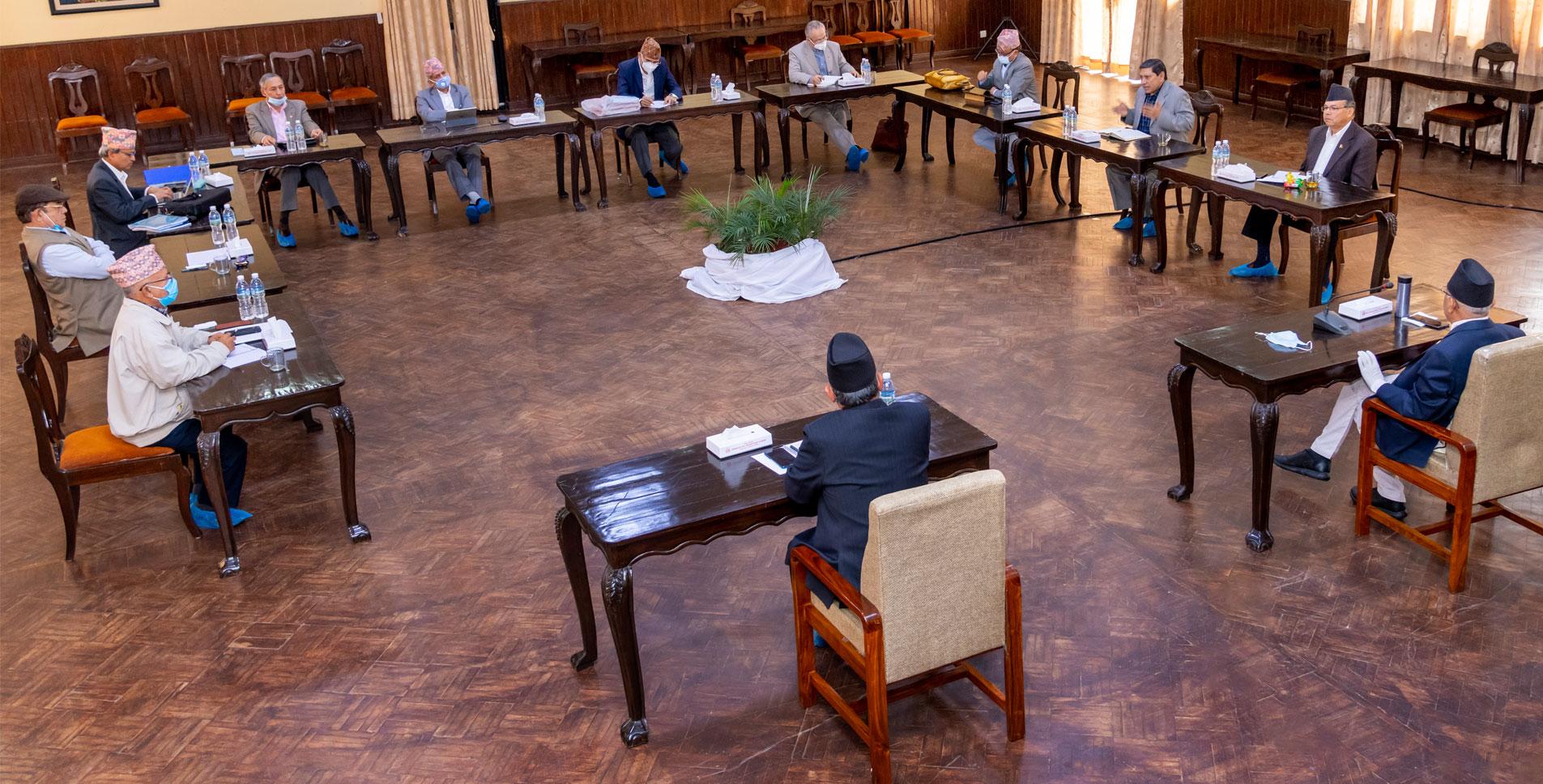 एमसीसीबारे छलफल गर्न भोली नेकपाको सचिवालय बैठक बस्दै