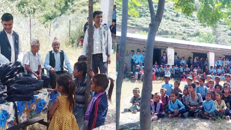 किर्डाक नेपालद्धारा ज्ञानोदय राम्नाकोटका बालबालिकाहरुलाई शैक्षिक सामाग्री वितरण