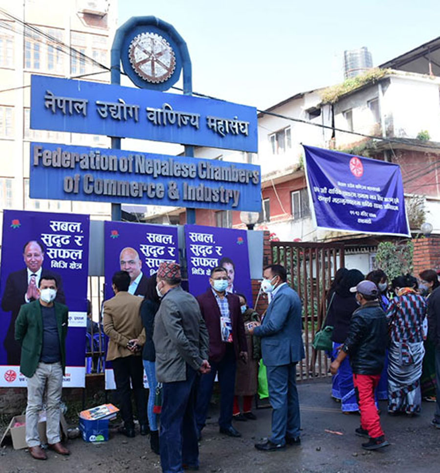 नेपाल उद्योग वाणिज्य महासंघको नयाँ कार्यसमिति चयनका लागि मतदान जारी