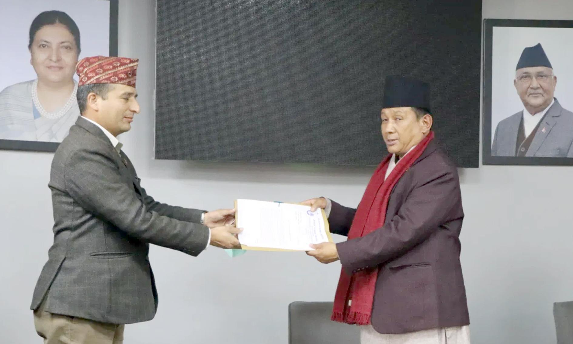 नेपाल पत्रकार महासंघ काठमाडौं जिल्ला शाखा अध्यक्ष शन्तराम बिडारीको नेतृत्वमा सूचना तथा प्रविधि मन्त्री पार्वत गुरुङलाई १५ बुँदे मागपत्र