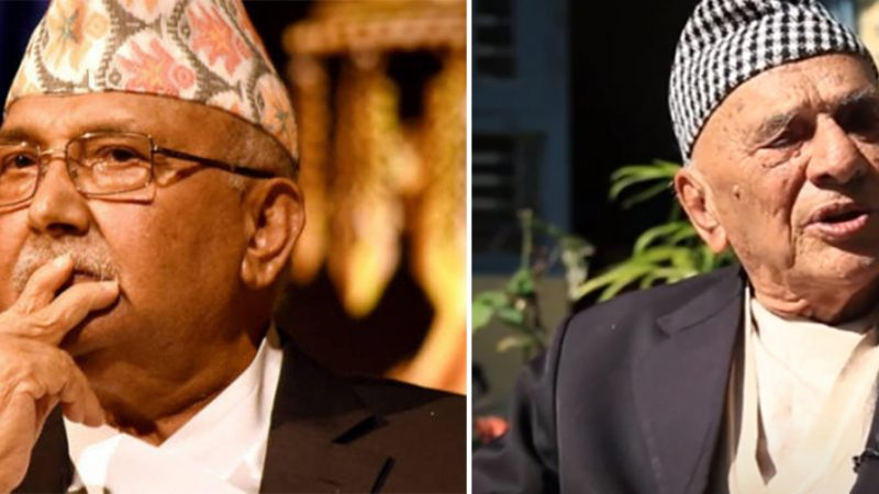 कामचलाउ प्रधानमन्त्री केपी शर्मा ओलीले आफैंलाई ज्यानमुद्दाबाट बचाउने वरिष्ठ अधिवक्ता कृष्णप्रसाद भण्डारीको अपमान