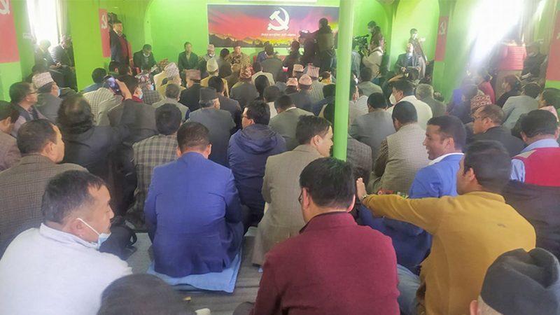 नेकपा प्रचण्ड–माधव समूहको केन्द्रीय कमिटीको बैठक पेरिसडांडामा सुरु