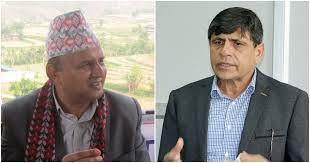 नेकपा दुई खेमाका नेता घनश्याम भुसाल र शंकर पोखरेलबीच सिंहदरबारमा डेढ घन्टा कुराकानी